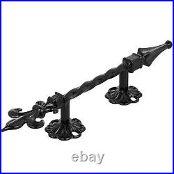 1-2 Steps Wrought Iron Handrail Steel Railing Stair Hand Rail Grab Porch Safety