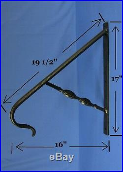 1 or 2 Step Handrail SOLID STEEL Railing Wrought Iron Sturdy Safety Rail Stair
