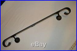 3 Ft WROUGHT IRON HANDRAIL 3 step Right or Left wall mount 36 Black 3