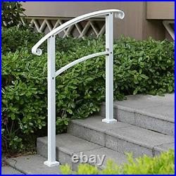 3 Step HandrailMattle Wrought Iron Handrail 1 or 3 StepStair Rail with Instal