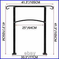3 Step Handrail ArchMattle Wrought Iron Handrail 1 or 3 StepStair Rail with I