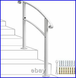 3 Step Handrail, Mattle Wrought Iron Handrail 1 Or 3 Step, Stair Rail With Kit