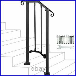 Adjustable HandrailHandrail Picket #1 Fits 1 or 2 Steps Mattle Wrought Iron H