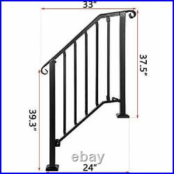 Adjustable Handrail Handrail Picket #2 Fits 2 or 3 Steps Mattle Wrought Iron