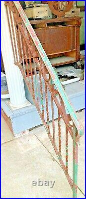 Antique Wrought Iron Stairs Hand Rail. Beautiful Detail