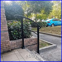 Atemou Stair Handrail 3-Step Adjustable Stair Rail Wrought Iron Handrail 1 or 3