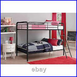 DHP Twin over Twin Metal Bunk Bed Frame, Multiple Colors