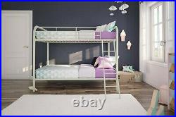 DHP Twin over Twin Metal Bunk Bed Frame, Multiple Colors DHP Twin over Twin Meta