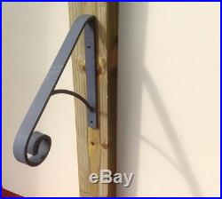 Grab Hand Rail for 1 or 2 step, wrought iron, Easy Install FREE SHIPPING