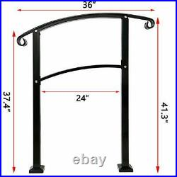 Handrail3 Step Handrail Fits 1 to 3 Steps Mattle Wrought Iron Handrail Stair