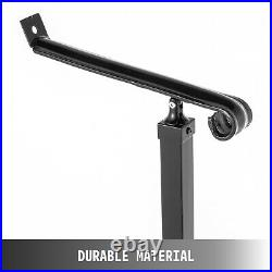 Handrail Railing Wrought Iron for Steps 1 Steps Iron Handrails for Outdoor Steps