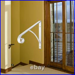 Handrail Railings, Wall Mounted Handrails Wrought Iron Railing Fits 1 or 2 Stairs