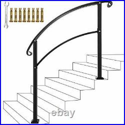 Handrails, Handrails for Outdoor Steps Sturdy Wrought Iron Handrails 5 Feet
