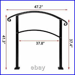 Handrails, Handrails for Outdoor Steps Sturdy Wrought Iron Handrails Outdoor