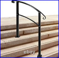 Handrails, Handrails for Outdoor Steps Sturdy Wrought Iron Handrails Outdoor Fits