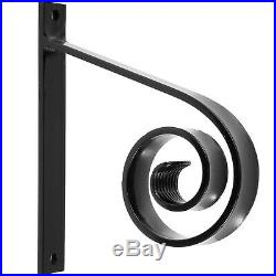 Handrails for Outdoor Step Wrought Iron Handrail 10.2 Length Porch Deck Railing
