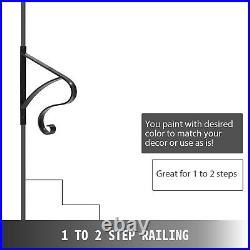 Handrails for Outdoor Steps Wrought Iron Handrail Curl Shape Porch Deck Railing