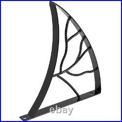 Handrails for Outdoor Steps Wrought Iron Handrail Leaf Shape Porch Deck Railing
