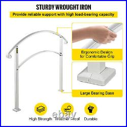Iron Handrail Adjustable Fits 4-5 Steps Stair Railing Paver Steps Buildings