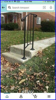 Iron X Wrought Iron Handrail Picket #1 RAILING Fits 1 or 2 Steps