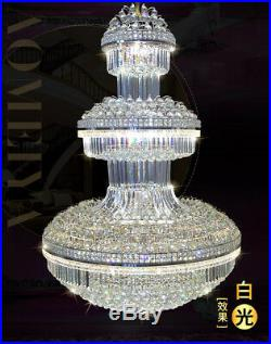 NEW Modern LED K9 Clear Crystal Chandelier Ceiling Light Stairs Lighting #6960