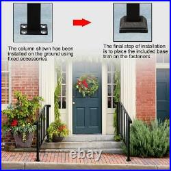 New Wrought Iron Handrail Picket Fits 3-4 Steps for Outdoor Garden Steps Stairs