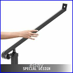 Outdoor 40mm Pipe 2 Stair Black Wrought Iron Step Railing Handrails 2 Step