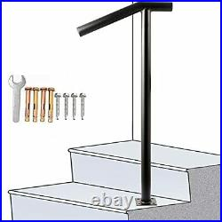 SPACEUP Step Handrail Fit for 1-2 StepsSteel Handrail Round Type Wrought Iron