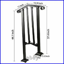 SPACEUP Step Handrail Fit for 1 or 2 Steps Wrought Iron 1-2 Step Railing