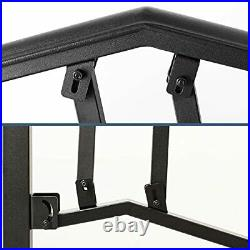 SPACEUP Step Handrail Fit for 4 or 5 Steps Wrought Iron 4-5 Step Railing