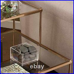 Southern Enterprises Knox Mirrored 3-Tier Stair Step Accent Table 20.5W X 24