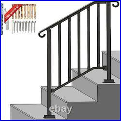 Spaceup Step Handrail Fit For 2 Or 3 Steps Wrought Iron Handrail For Outdoor Ste