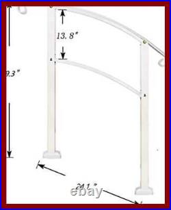 Transitional Handrail 3 Step Fits 1 Or Steps BLACK Stair Rail Wrought Iron W Ins