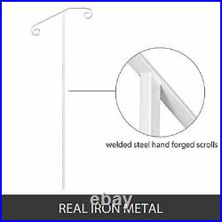 VEVOR Single Post Handrail Wrought Iron Post Mount Step Grab Supports in Grou