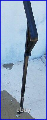 Vintage Wrought Iron Stairs Curved Hand Rail Fits 6 Steps