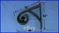WROUGHT IRON RAILING HANDRAIL METAL HAND RAIL FOR STAIRS STEPS STURDY 1 or 2 STE