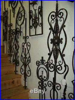 WROUGHT IRON STAIRS SPINDLES RAILING ART WORK HANDCRAFTED 10 Pc 42''x 6'' NEW