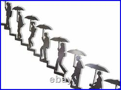 Walking up the Stairs Metal Wall Art Wall Mural People Silhouette Walking up the