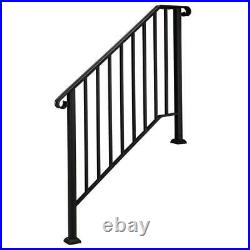 Wrought Iron Handrail Matte Black Fit 3 or 4 Steps Handrail Brick Step Stair New