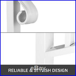 Wrought Iron Handrail Picket #4 Fits 4 or 5 Steps for Outdoor Steps Matte White