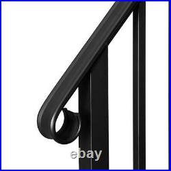 Wrought Iron Handrail Picket Fits 1 or 2 Steps for Outdoor Steps Garden Steps