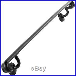 Wrought Iron Stair Handrail Stair Rail 2ft-5ft Two-Five Step Handrail for Stairs