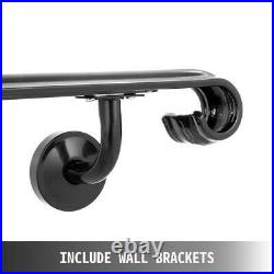 Wrought Iron Stair Handrail Stair Rail Railing 5ft 5-step Handrail For Stairs