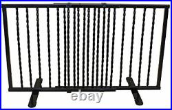 Wrought Iron Step Over Freestanding Pet Gate